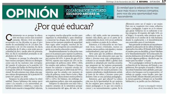 Articulo EAM Porque educar Reforma Nov 19 17