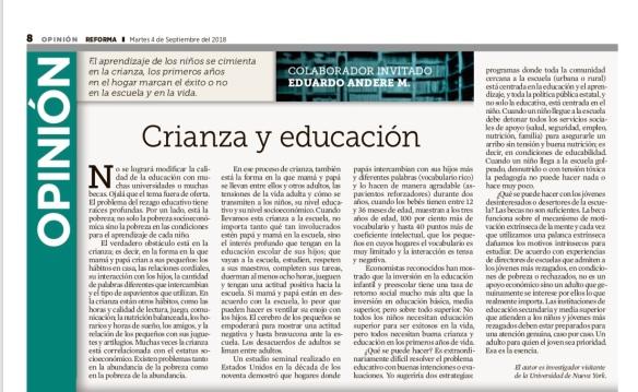 Crianza y educación Reforma Sep 4 2018